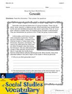 Content-Area Vocabulary Social Studies - Base cid-, cis-
