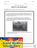 Content-Area Vocabulary Social Studies - Base -crat, -cracy