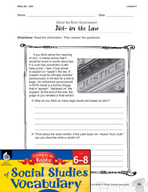 Content-Area Vocabulary Social Studies - Base dic-, dict-