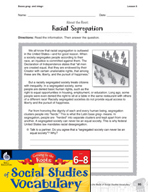 Content-Area Vocabulary Social Studies -  Bases greg- and integr-