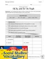 Content-Area Vocabulary Social Studies - Bases popul- and dem(o)-