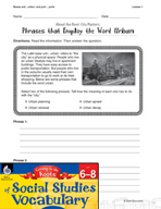 Content-Area Vocabulary Social Studies - Bases urb-, urban