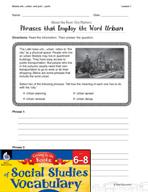 Content-Area Vocabulary Social Studies - Bases urb-, urban- and poli-, -polis