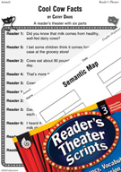 Cool Cow Facts Reader's Theater Script and Lesson