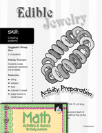 Creating Patterns - Edible Jewelry Activity