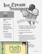 Creating Patterns - Ice Cream Scooper Activity