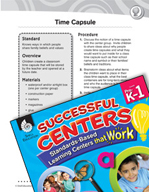 Creating a Classroom Time Capsule Social Studies Center