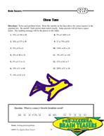Critical Thinking Activities Algebra - Proportion and Percent