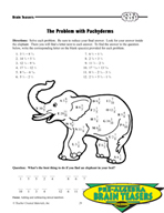 Critical Thinking Activities Algebra - Rational Numbers (+ and -)