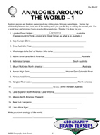 Critical Thinking Activities Geography - The World