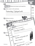 Daily Language Practice for First Grade (Week 18)