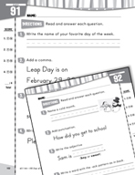 Daily Language Practice for First Grade (Week 19)