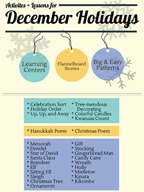 December Holidays Activities, Patterns, and Stories for Grades PK-2