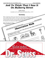 Dr. Seuss Literature Activities - And To Think That I Saw It On Mulberry Street