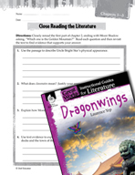 Dragonwings Close Reading and Text-Dependent Questions (Great Works Series)
