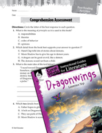 Dragonwings Comprehension Assessment (Great Works Series)