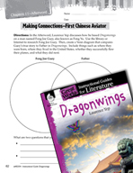 Dragonwings Making Cross-Curricular Connections (Great Works Series)