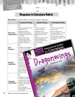 Dragonwings Post-Reading Activities (Great Works Series)