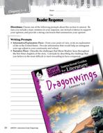 Dragonwings Reader Response Writing Prompts (Great Works Series)