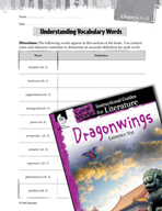 Dragonwings Vocabulary Activities (Great Works Series)