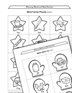 Early Childhood Literacy Centers - Rhyming Words and Word Families