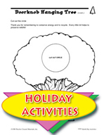 Earth Day Activities - Create Your Own Rain Forest and Doorknob Hanging Tree