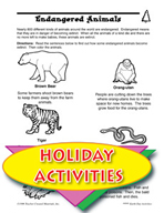 Earth Day Activities - Endangered Animals