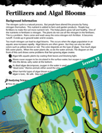 Earth Systems and Cycles Inquiry Card - Fertilizers and Algal Blooms