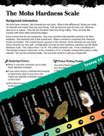 Earth Systems and Cycles Inquiry Card - The Mohs Hardness Scale