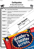 Earthquakes Reader's Theater Script and Lesson