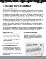 Ecology and the Environment Inquiry Card - Reasons for Extinction