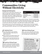 Electricity and Magnetism Inquiry Card - Communities Living Without Electricity