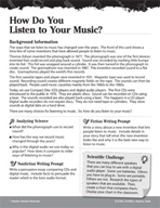 Electricity and Magnetism Inquiry Card - How Do You Listen to Your Music?