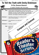 Emily Dickinson Reader's Theater Script and Lesson