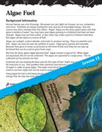 Energy Inquiry Card - Algae Fuel