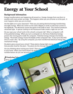 Energy Inquiry Card - Energy at Your School