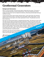Energy Inquiry Card - Geothermal Generators