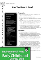 Environmental Print and Building Vocabulary: Can You Read It Now?