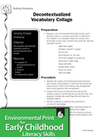Environmental Print and Building Vocabulary: Decontextualized Vocabulary Collage