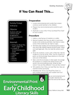Environmental Print and Building Vocabulary: If You Can Read This . . .