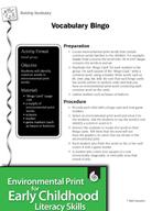 Environmental Print and Building Vocabulary: Vocabulary Bingo