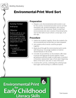 Environmental Print and Building Vocabulary: Word Sort