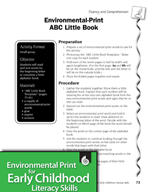 Environmental Print and Fluency/Comprehension: ABC Little Book