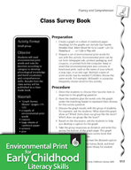 Environmental Print and Fluency/Comprehension: Class Survey Book