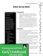 Environmental Print and Fluency/Comprehension: Class Survey Book