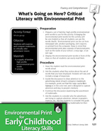 Environmental Print and Fluency/Comprehension: Critical Literacy #1