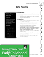 Environmental Print and Fluency/Comprehension: Echo Reading