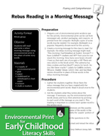 Environmental Print and Fluency/Comprehension: Morning Message Rebus Reading