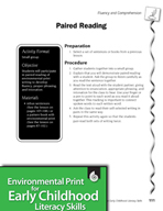 Environmental Print and Fluency/Comprehension: Paired Reading