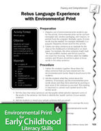 Environmental Print and Fluency/Comprehension: Rebus Language Experience